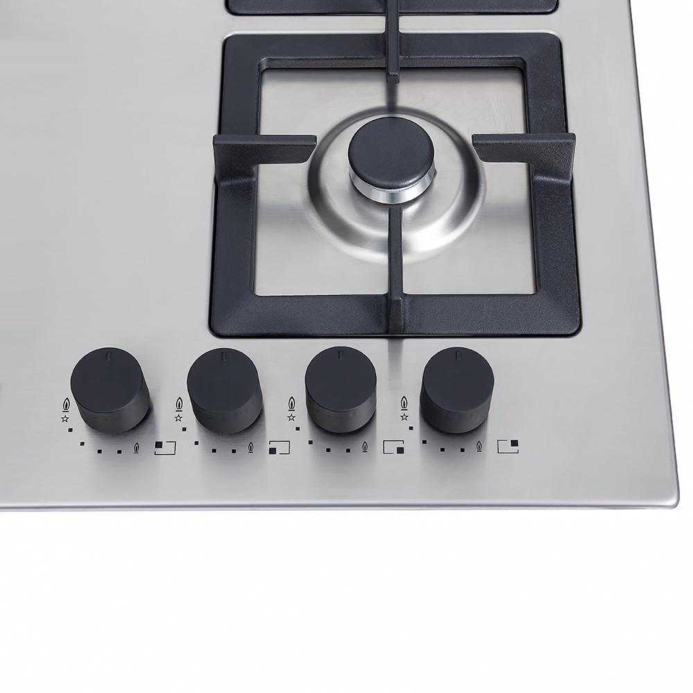 Поверхность газовая на металле Perfelli design HGM 6430 INOX SLIM LINE