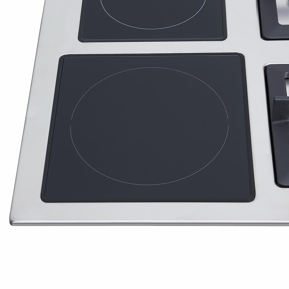 Поверхность газо-электрическая 2+2 Perfelli design HKM 6230 INOX SLIM LINE