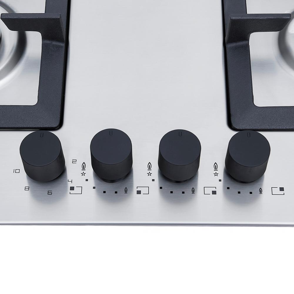 Поверхность газо-электрическая 3+1 Perfelli design HKM 6330 INOX SLIM LINE