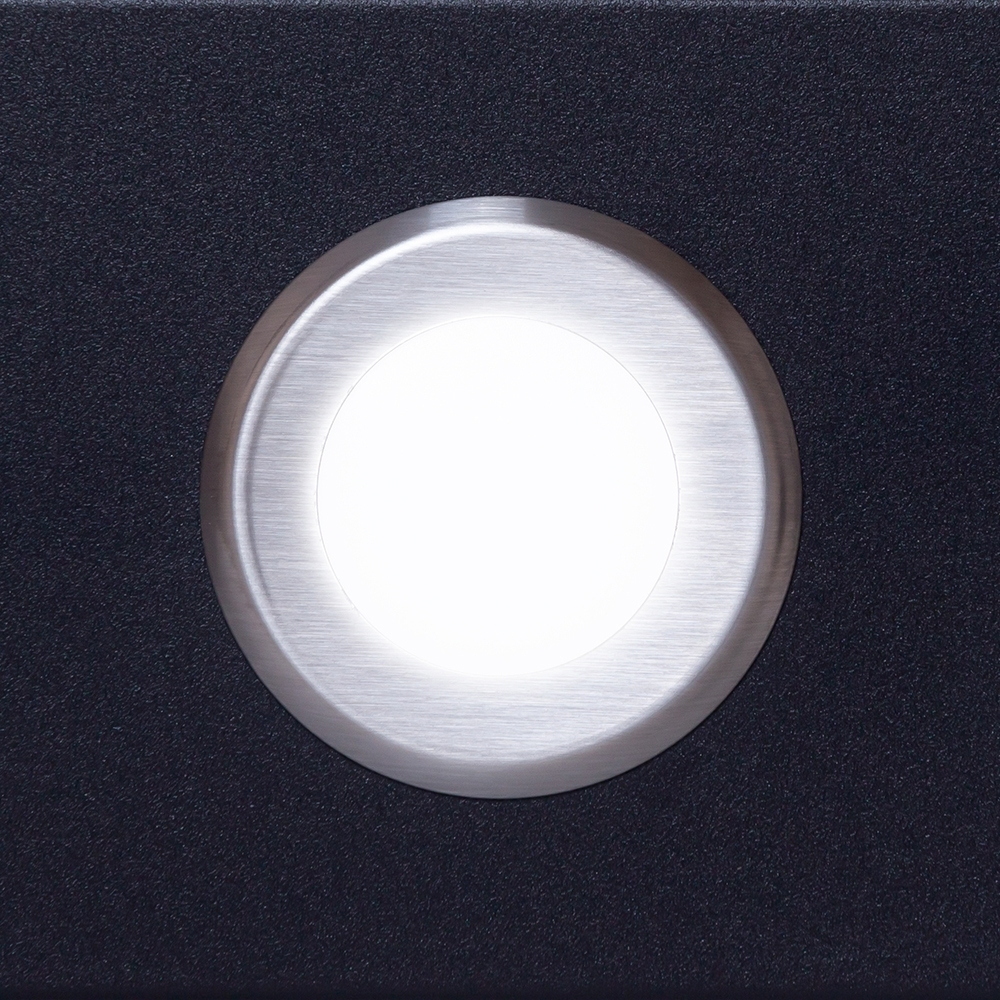 Hood telescopic Perfelli TL 6632 C BL 1000 LED GLASS