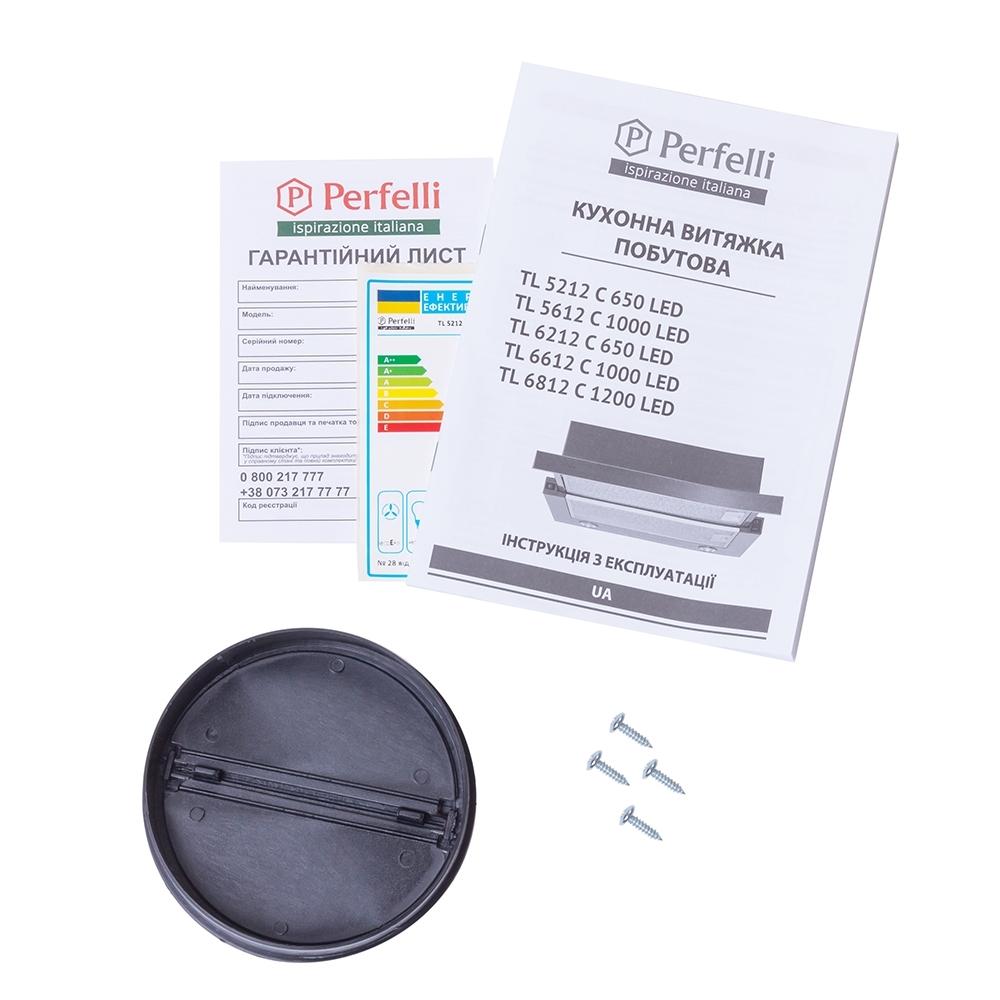 Вытяжка телескопическая Perfelli TL 5212 C S/I 650 LED