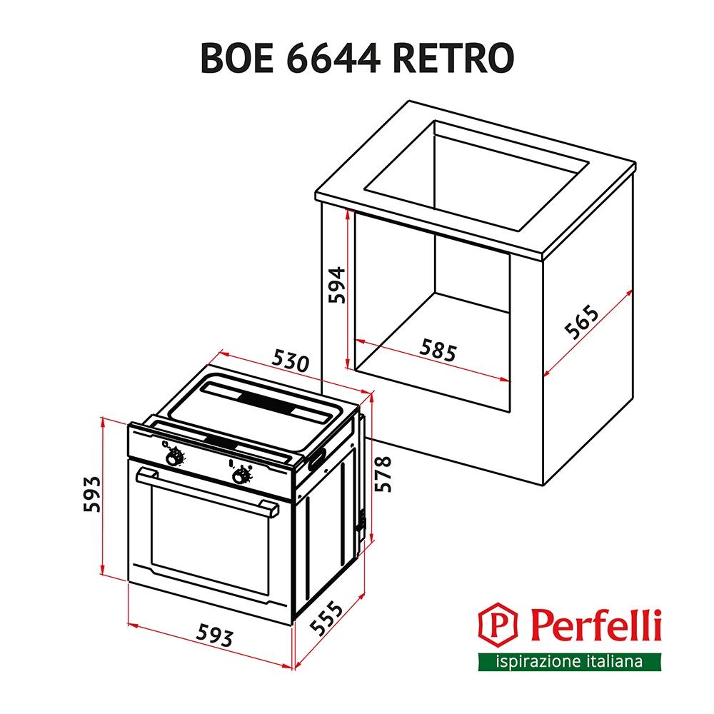Oven Perfelli BOE 6644 BL RETRO