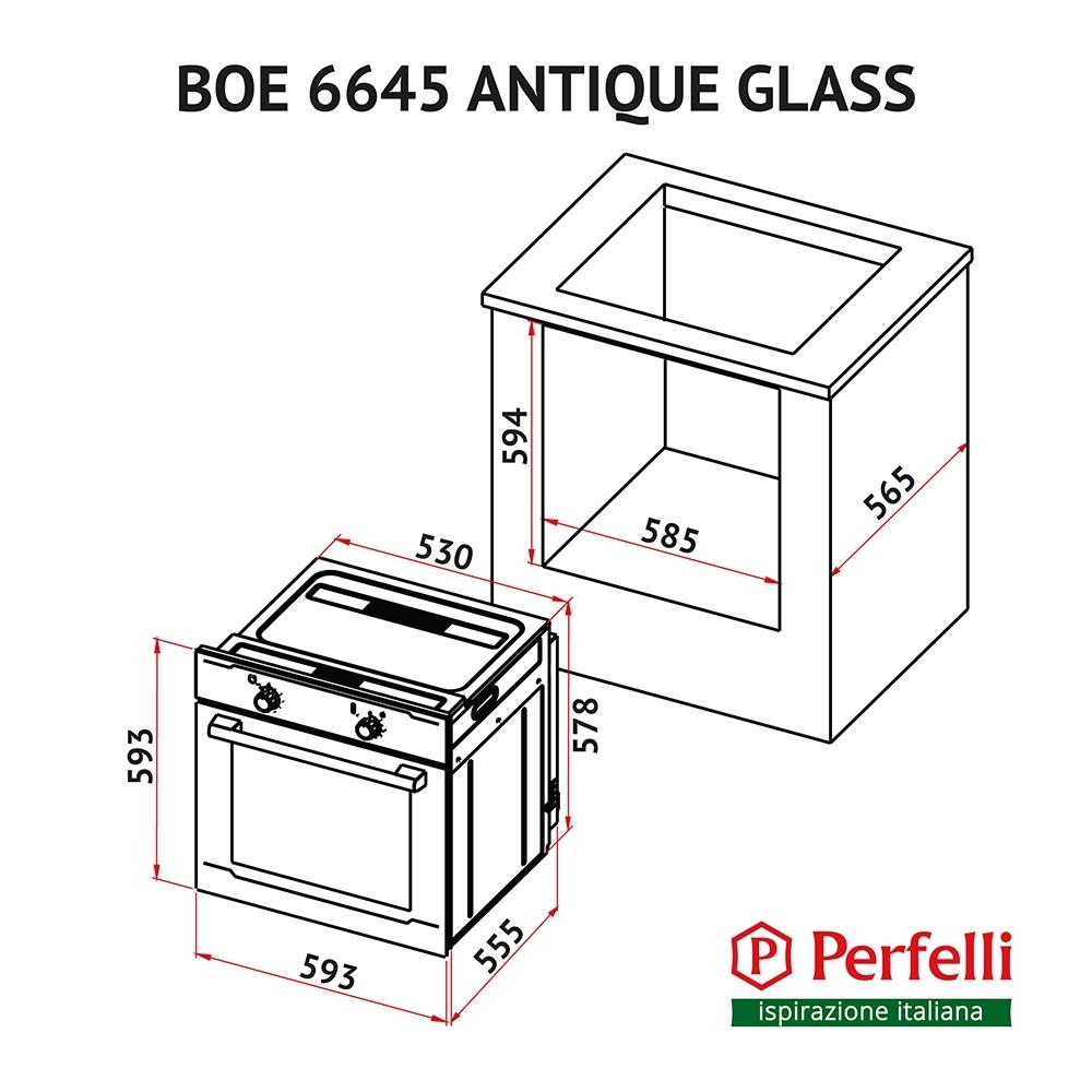 Духовка Perfelli BOE 6645 IV ANTIQUE GLASS