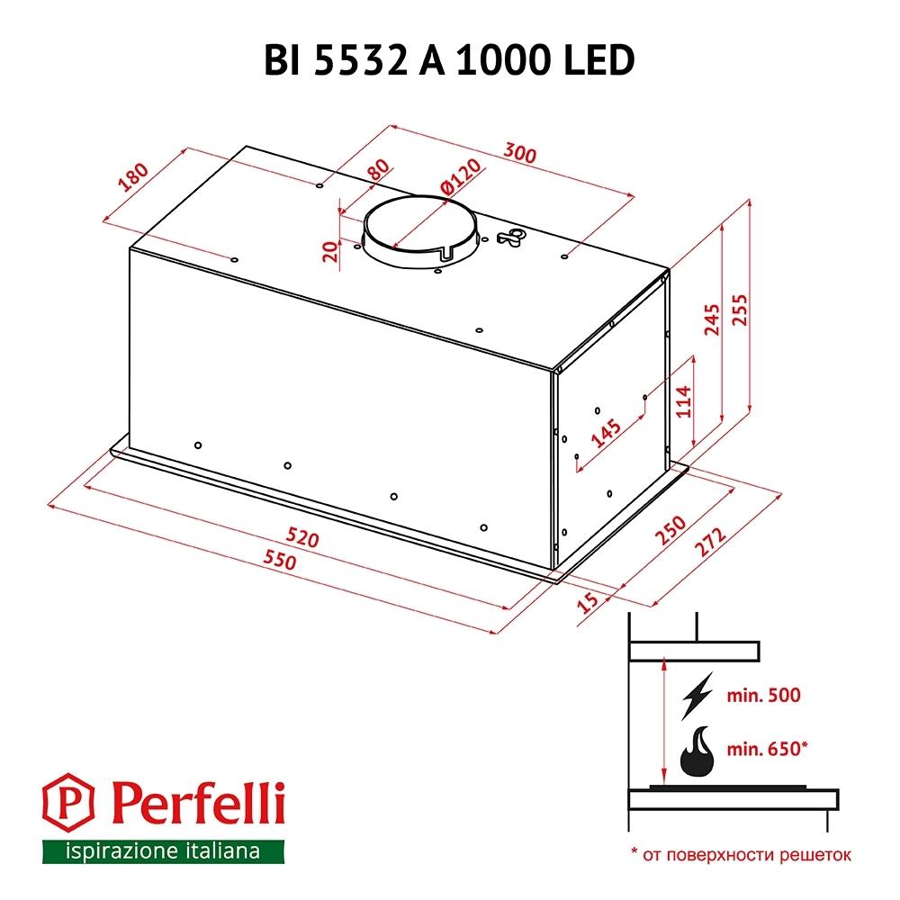 Вытяжка полновстраиваемая Perfelli BI 5532 A 1000 I LED